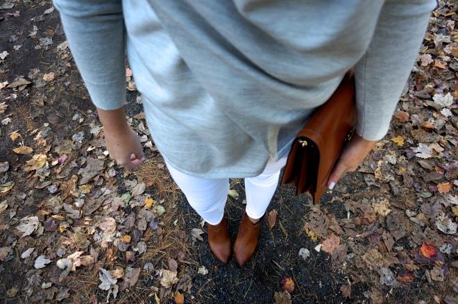 1 All Saints Drina Draped Cardigan Sweater Fall White New England Blogger