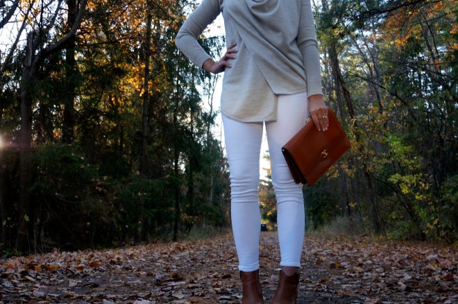 4 All Saints Drina Draped Cardigan Sweater Fall White New England Blogger