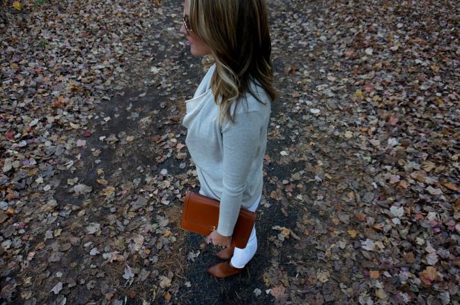 6 All Saints Drina Draped Cardigan Sweater Fall White New England Blogger