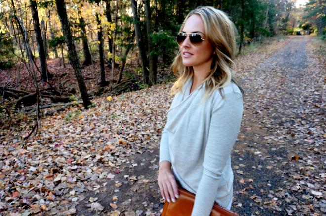7 All Saints Drina Draped Cardigan Sweater Fall White New England Blogger
