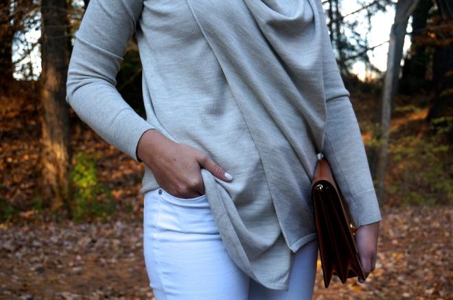 9 All Saints Drina Draped Merino Sweater Fall White New England Blogger